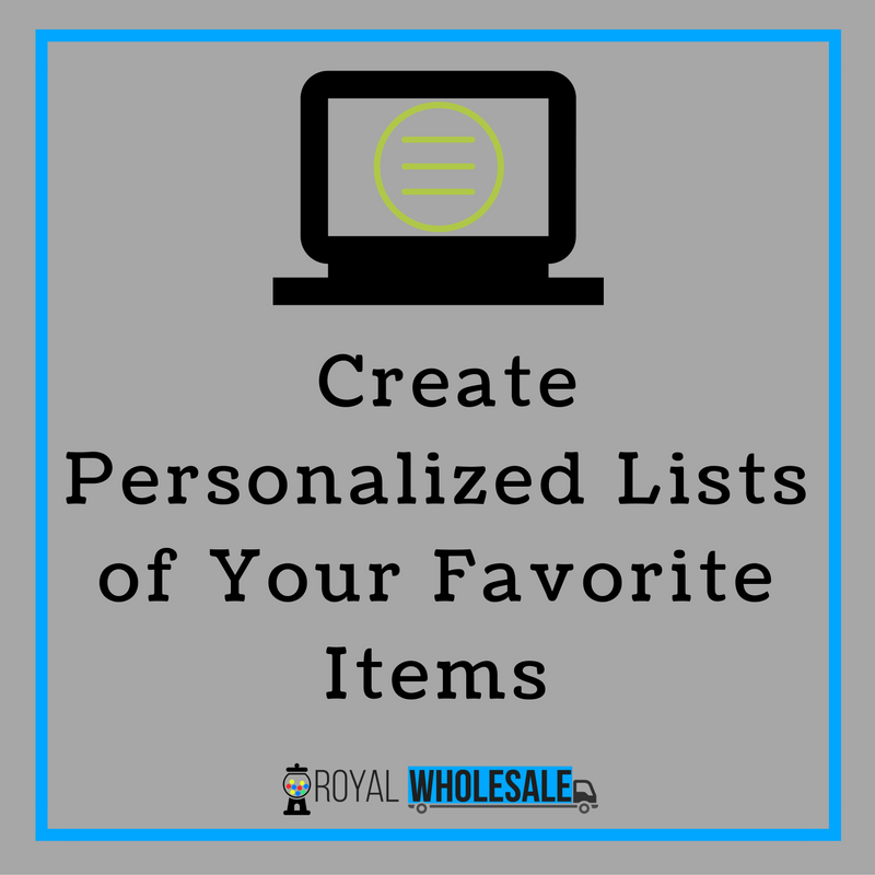 Create Personalized Lists of Your Favorite Items